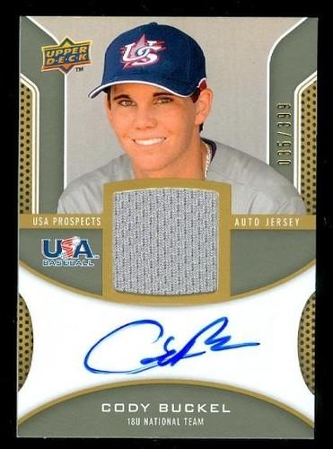 Photo of 2009 Upper Deck Signature Stars USA Star Prospects Jersey Autographs #CB Cody Buckel
