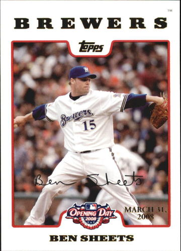 Photo of 2008 Topps Opening Day Gold #67 Ben Sheets