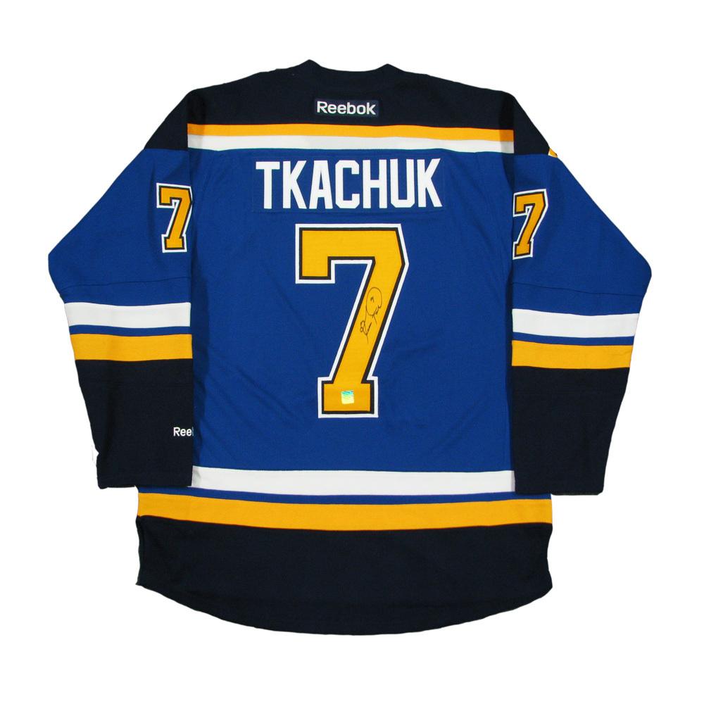 KEITH TKACHUK Signed St. Louis Blues Blue Reebok Jersey
