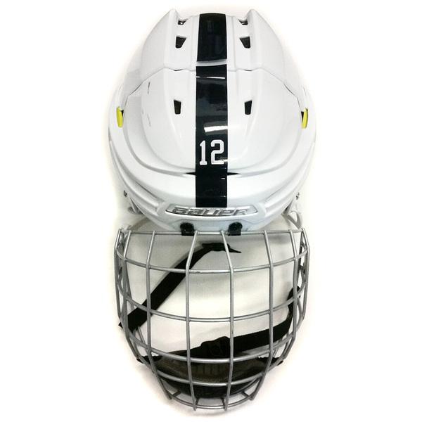 Photo of Penn State Game Used Men's Ice Hockey Helmet (White #12)