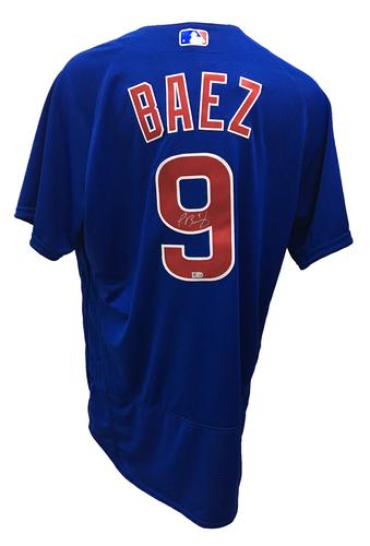 Javier Baez Autographed Jersey: Size - 48