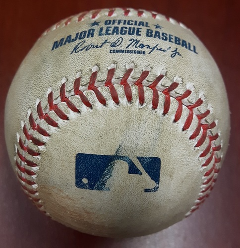 Photo of Authenticated Game Used Baseball (April 14, 2017 vs BAL) - Russell Martin single to LF on Two-Seam Fastball by Zach Britton (Bot 9)