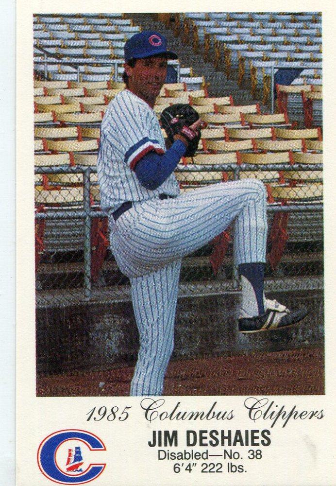 1985 Columbus Clippers Police #8 Jim Deshaies