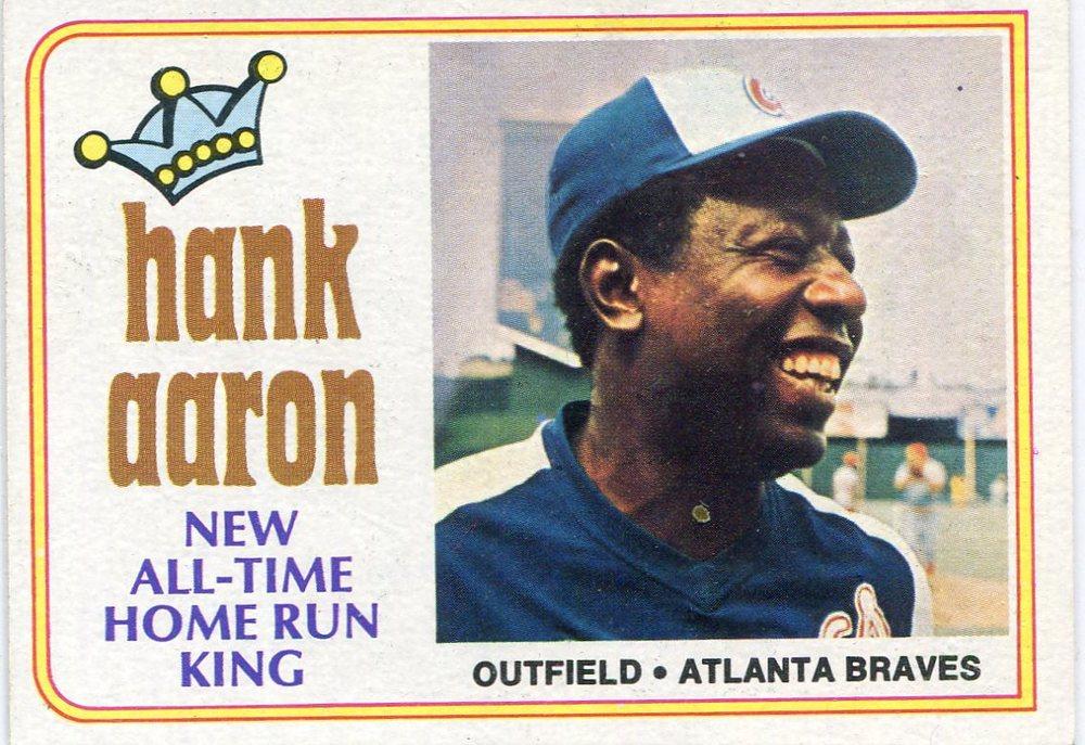 1974 Topps #1 Hank Aaron 715 -- Hall of Famer
