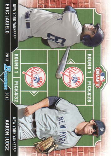 Photo of 2013 Bowman Draft Dual Draftee #JJ Eric Jagielo/Aaron Judge