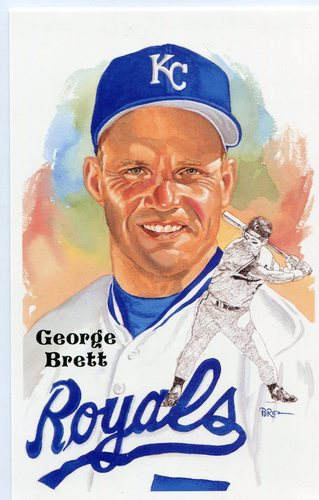 Photo of 1980-02 Perez-Steele Hall of Fame Postcards #238 George Brett -- HOF Class of 1999