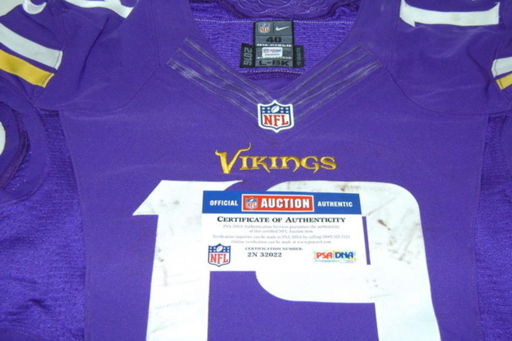 new arrivals f5603 406d7 NFL Auction | CRUCIAL CATCH - VIKINGS ADAM THIELEN GAME WORN ...