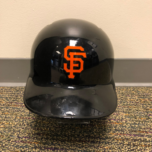Photo of 2018 San Francisco Giants - Game Used Batting Helmet used by #22 Andrew McCutchen on 3/27/2018 vs. Oakland A's