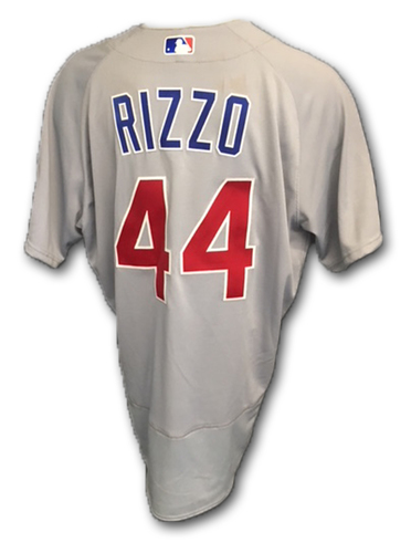 Photo of Anthony Rizzo Game-Used Jersey -- Cubs at Cardinals, 6/16/18 (1 Hit, 1 Run)