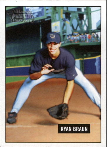 Photo of 2005 Bowman Heritage #341 Ryan Braun Rookie Card