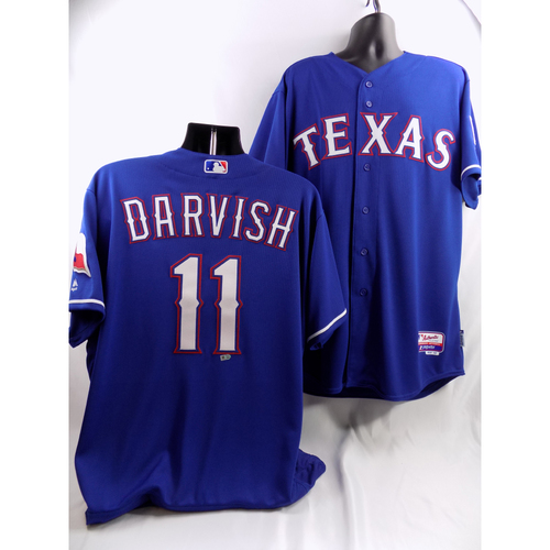 Photo of Yu Darvish Blue Team-Issued Jersey