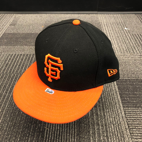 Photo of 2018 Game Used Orange Bill Cap worn by #49 Sam Dyson - Size 7 3/8