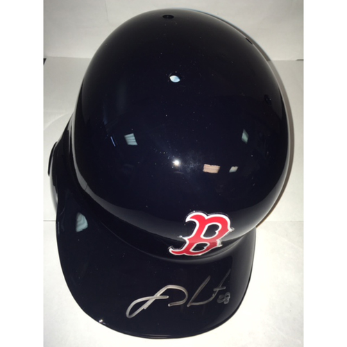Photo of J.D. Martinez Autographed Red Sox Batting Helmet