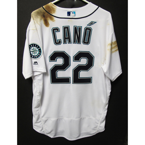 Photo of Robinson Cano 2018 Team-Issued Home White Jersey
