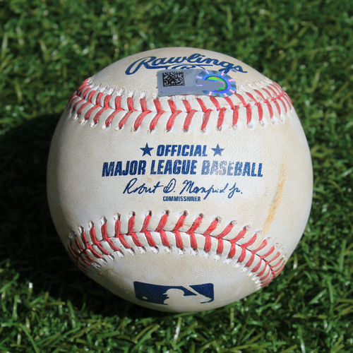 Photo of Game-Used Baseball: Jonathan Villar 669th Career Hit (BAL @ KC - 8/30/19)