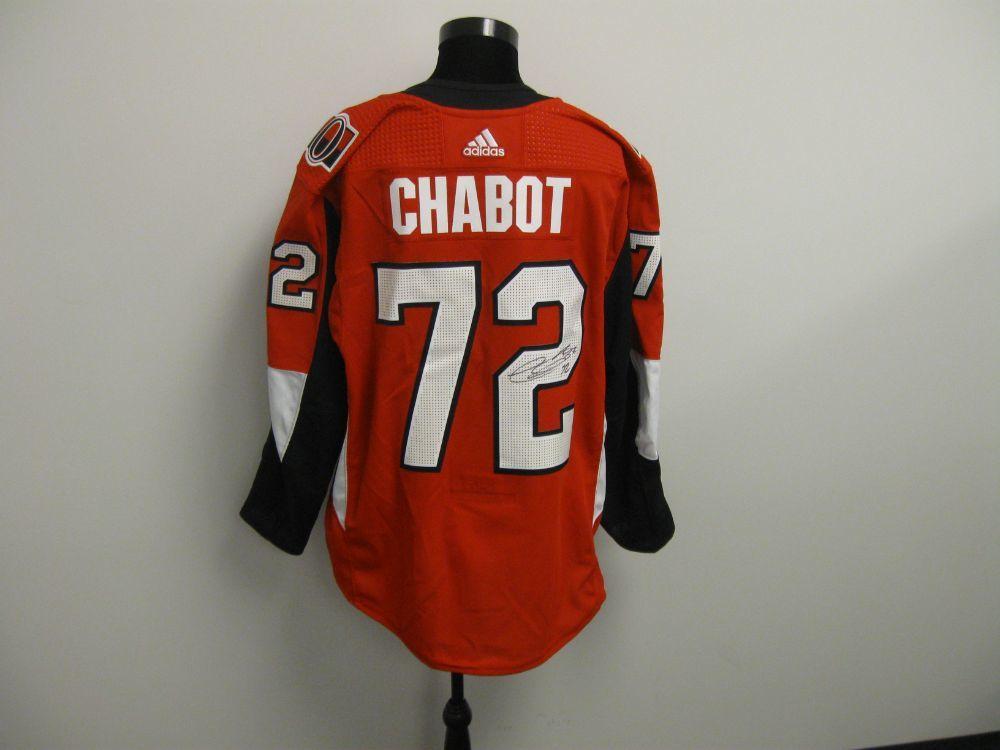 Thomas Chabot Autographed Event Worn Jersey from 2019 Player Media Tour - Ottawa Senators