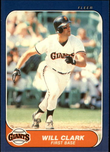 Photo of 1986 Fleer Update #25 Will Clark XRC
