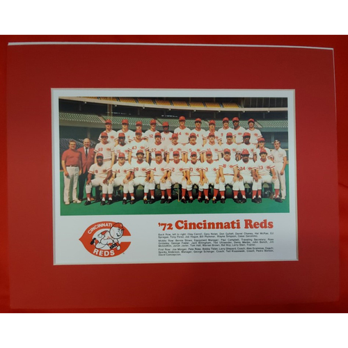 Photo of Matted 1972 Reds Team Photo - 11x14