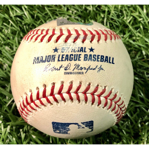 Photo of Game Used Baseball: Mitch Moreland HOME RUN (3) off Charlie Morton - #169 of Career - August 4, 2020 v BOS