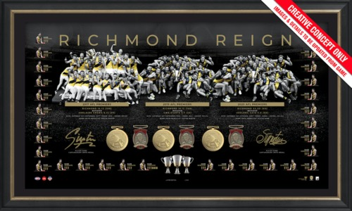 Photo of Richmond 2020 Dual Signed Premiership Trilogy Lithograph - Edition Number 17