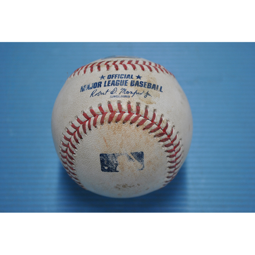 Photo of Game-Used Baseball - 2020 NLDS - San Diego Padres vs. Los Angeles Dodgers - Game 1 - Pitcher - Blake Treinen, Batter - Manny Machado (Groundout to Shortstop) - Top 8