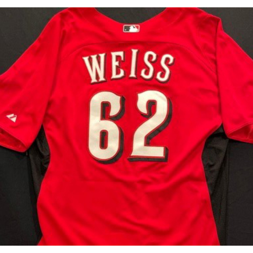 Photo of WEISS-62 -- Authentic Reds Jersey -- $1 Jersey Auction -- $5 Shipping -- Size 46 (Not MLB Authenticated)