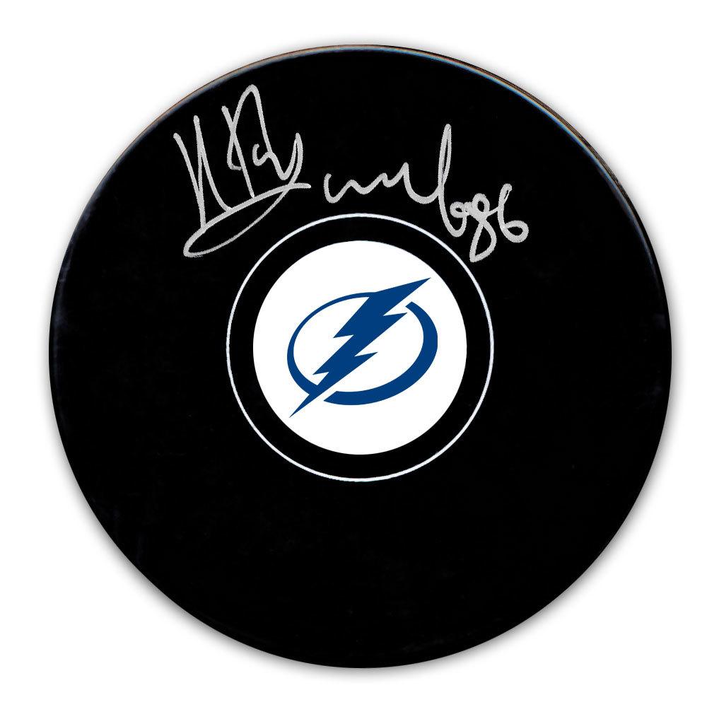 Nikita Kucherov Tampa Bay Lightning Autographed Puck