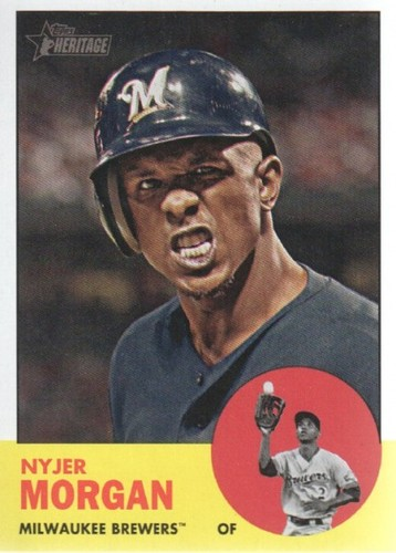 Photo of 2012 Topps Heritage #137A Nyjer Morgan