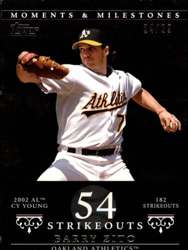 Photo of 2007 Topps Moments and Milestones Black #49-54 Barry Zito/SO 54
