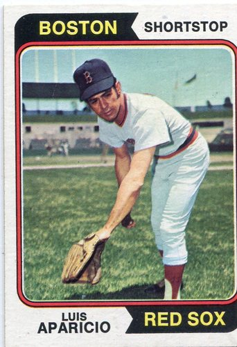 Photo of 1974 Topps #61 Luis Aparicio -- Hall of Famer