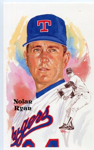 Photo of 1980-02 Perez-Steele Hall of Fame Postcards #241 Nolan Ryan -- HOF Class of 1999
