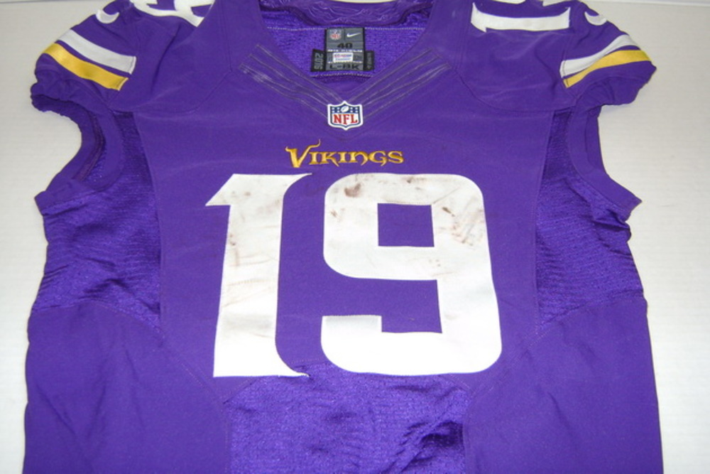 new arrivals c2350 02087 NFL Auction | CRUCIAL CATCH - VIKINGS ADAM THIELEN GAME WORN ...
