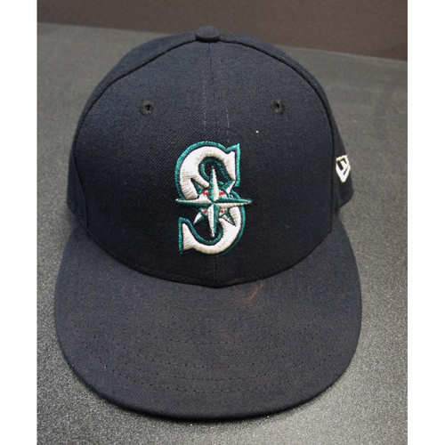 Photo of Taylor Motter Team-Issued Navy Cap 2017. Cap Size - 7