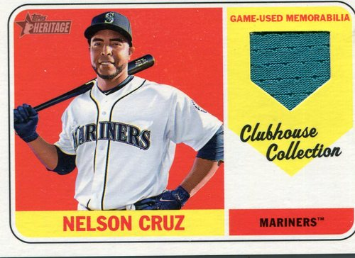 Photo of 2018 Topps Heritage Clubhouse Collection Relics #CCRNC Nelson Cruz