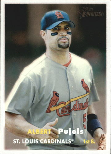 Photo of 2006 Topps Heritage #165A A.Pujols Grey Shirt