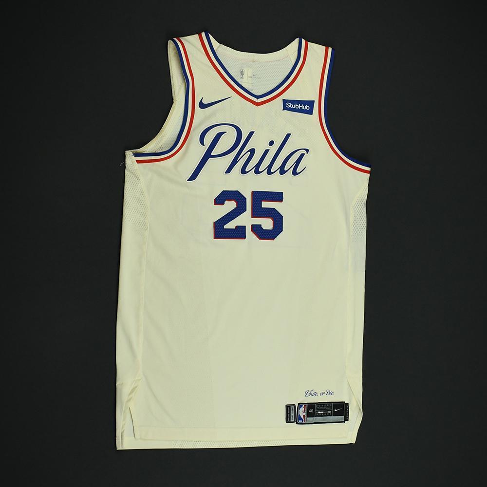 wholesale dealer cda73 a856b Ben Simmons - Philadelphia 76ers - Game-Worn 'City' Jersey ...