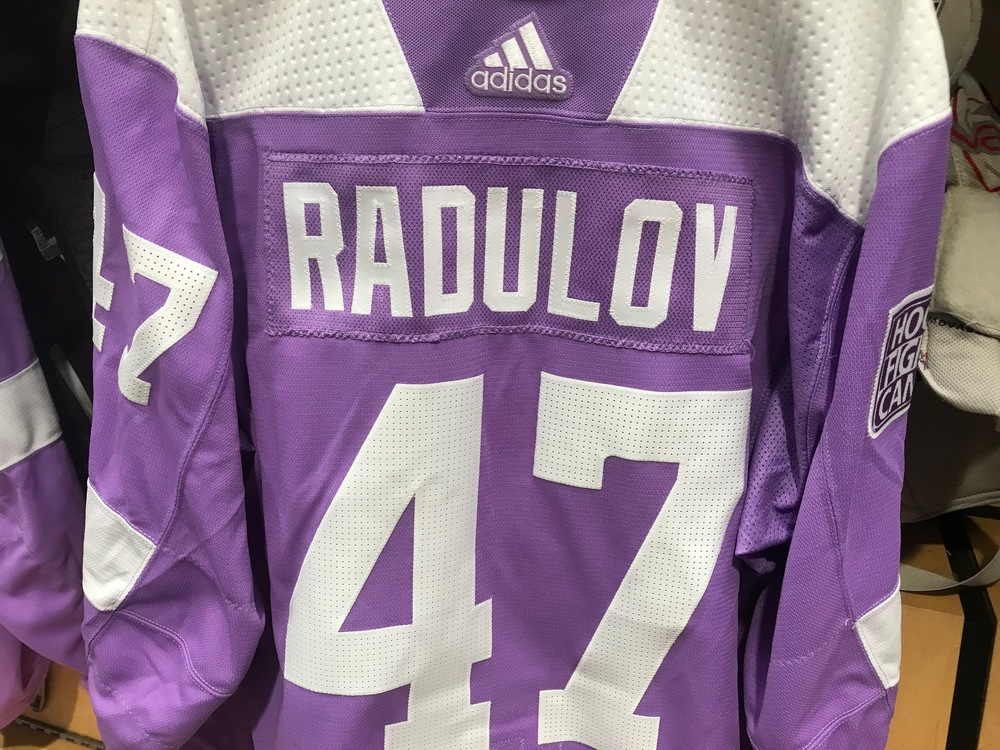 Alexander Radulov Warm Up Worn Hockey Fights Cancer Jersey