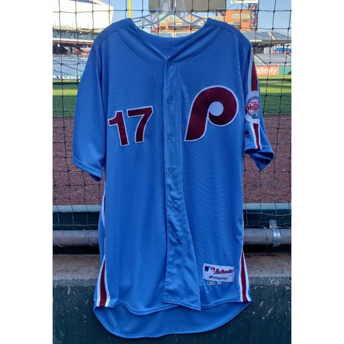 Photo of 2018 Game-Used Rhys Hoskins Jersey