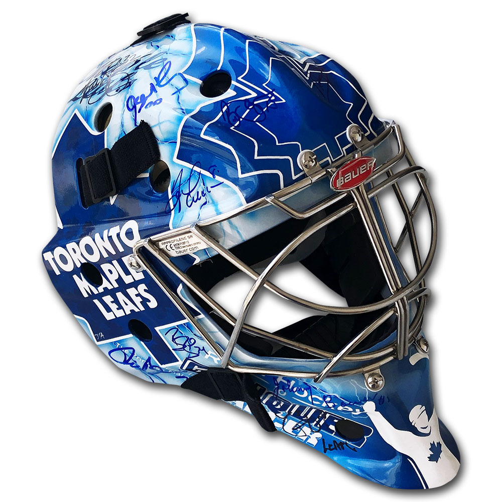 Toronto Maple Leafs Autographed Custom Road Hockey To Conquer Cancer Goalie Mask
