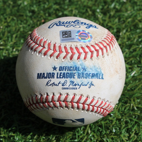 Photo of Game-Used Baseball: Josh Phegley 240th Career Hit and 147th Career RBI (OAK @ KC - 8/26/19)