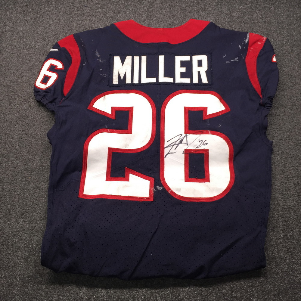 STS - Texans Lamar Miller Signed Game Used Jersey Size 42 (11/26/18)