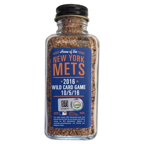 Photo of Game Used Citi Field Dirt Jar - 2016 NL Wild Card Game - Mets vs. Giants - 10/5/16