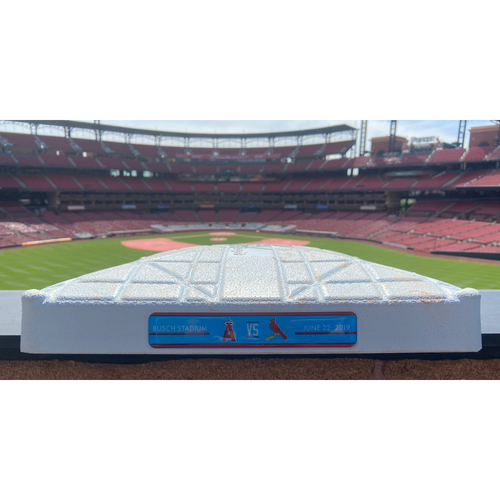 Photo of Cardinals Authentics: Game Used 3rd Base (Innings 1-3) from June 22nd, 2019 Angels vs. Cardinals *Pujols Return to St. Louis*