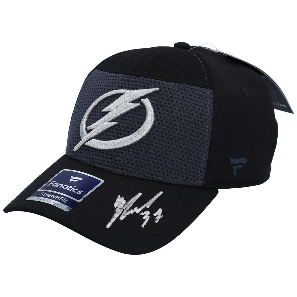 Yanni Gourde Tampa Bay Lightning Autographed Black Cap - NHL Auctions Exclusive