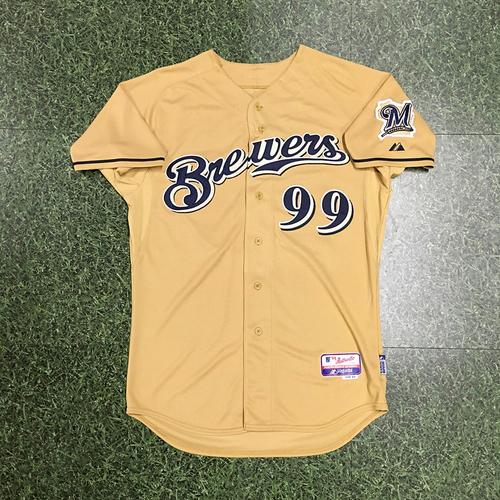 Photo of Bat Boy 2015 Team-Issued Gold Alternate Jersey