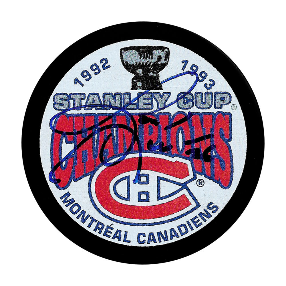 Gary Leeman Autographed Montreal Canadiens 1993 Stanley Cup Champions Pucks