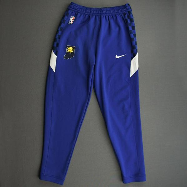 Image of T.J. McConnell - Indiana Pacers - Game-Issued Earned Edition Game Theater Pants  - 2019-20 NBA Season