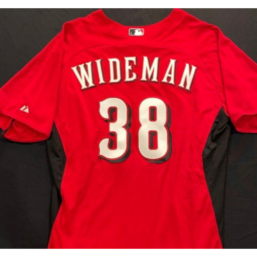 Photo of WIDEMAN -- Authentic Reds Jersey -- $1 Jersey Auction -- $5 Shipping -- Size 46 (Not MLB Authenticated)