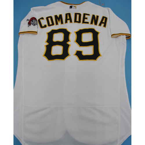Game-Used 2020 Home Jersey - MIL at PIT - 7/27/2020 - Jordan Comadena - Size 46TC