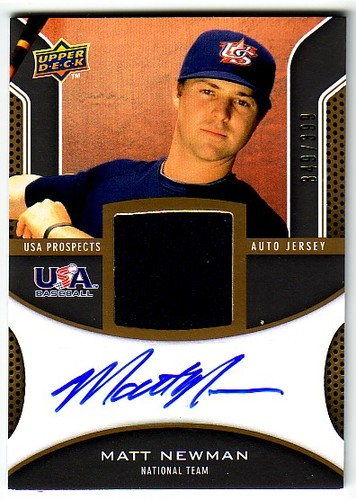 Photo of 2009 Upper Deck Signature Stars USA Star Prospects Jersey Autographs #MN Matt Newman